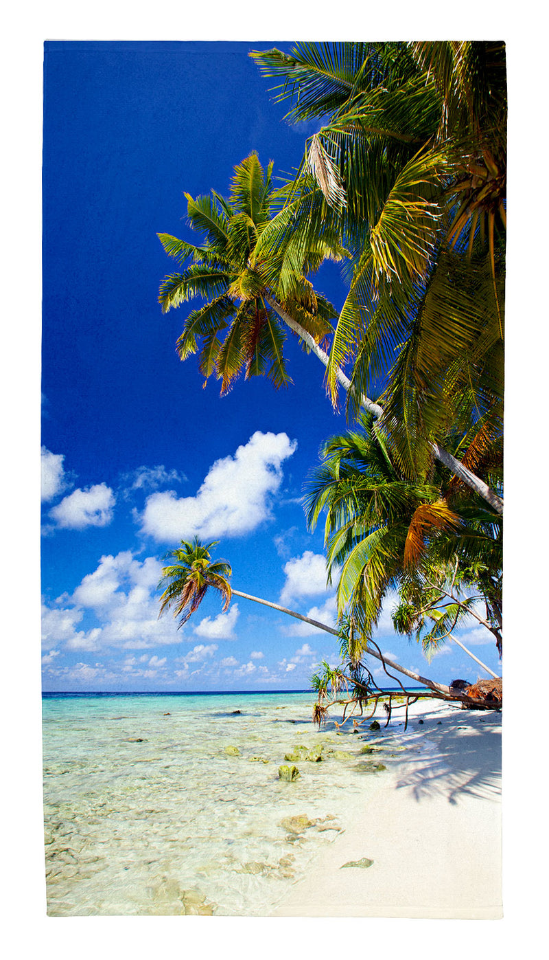"Tropical Paradise Small Beach Towel (42"" x 22"")"