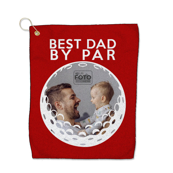 "Best Dad by Par - Microfiber Waffle Small Golf Towel (15"" x 18"")"