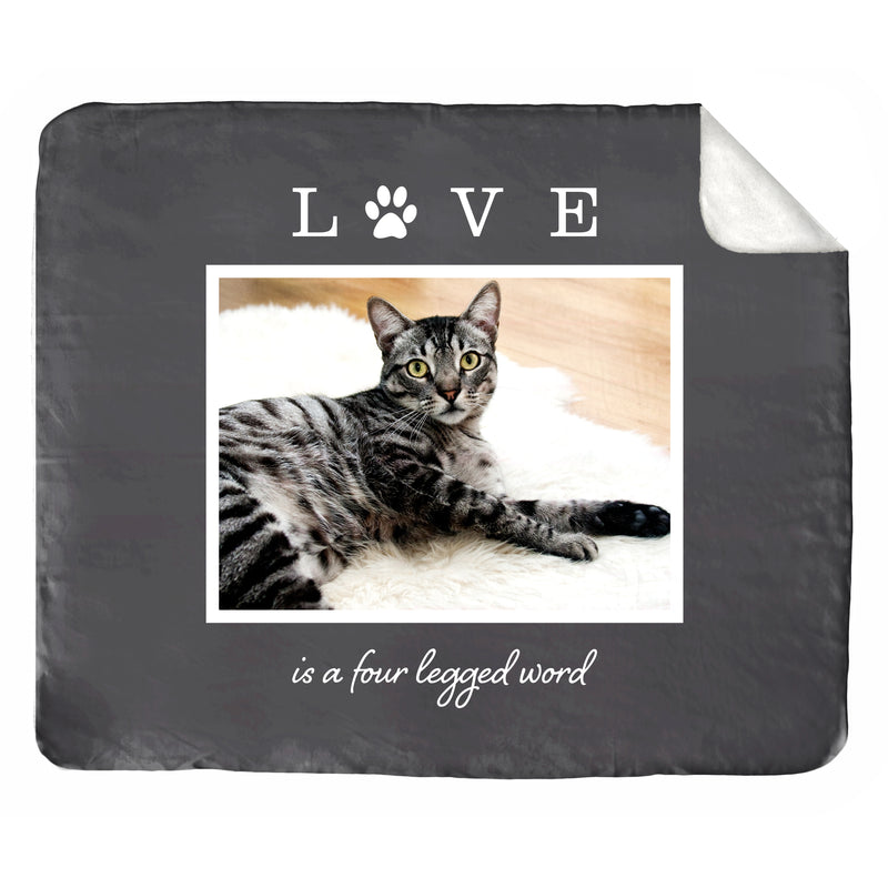 "Love is Four Legged: A Pet's Challenger Lambswool Throw (50"" x 60"")"