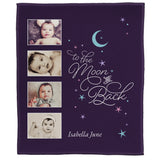 "FOTO Baby To The Moon & Back Purple Plush Throw (50"" x 60"")"