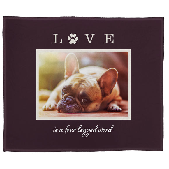 "FOTO Pets Love Four Legged Fig Plush Throw (50"" x 60"")"