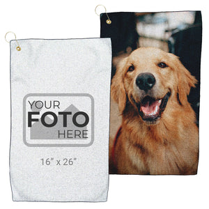 "Design Your Own - Microfiber Waffle Golf Towel  (16"" x 26"")"