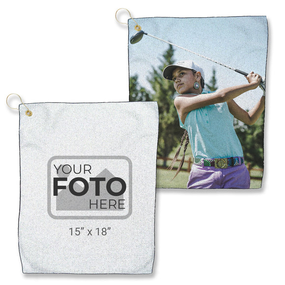 "Design Your Own - Microfiber Waffle Small Golf Towel (15"" x 18"")"