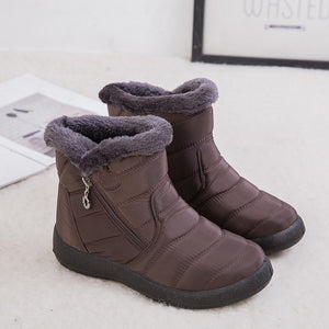 (Free Shipping)Thickened and velvet waterproof warm snow boots