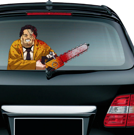 Christmas Halloween car rear window wiper sticker