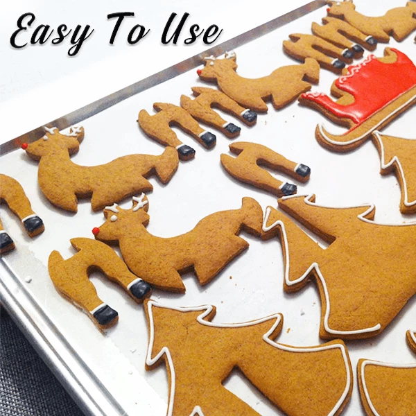 3D Christmas Cookie Baking Tools (A set of 8 Pcs)