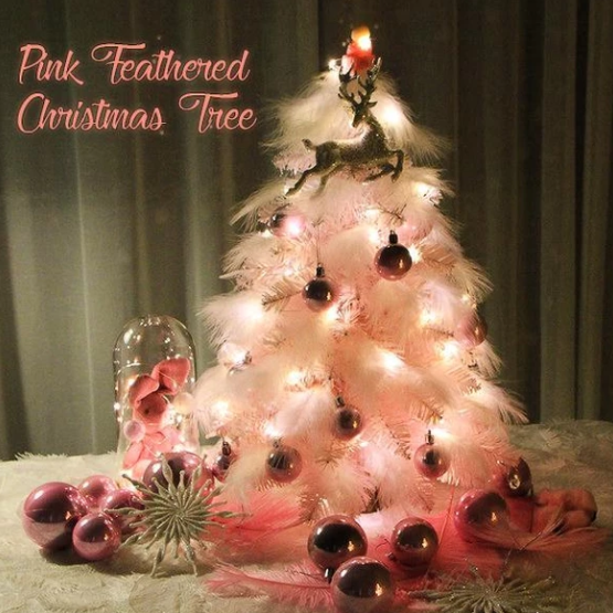 Pink Feathered Christmas Tree【free shipping】