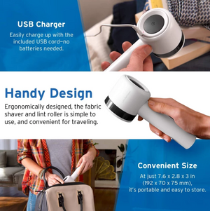 【Free Shipping】2-in-1 Rechargeable Lint Remover / Fluff roller