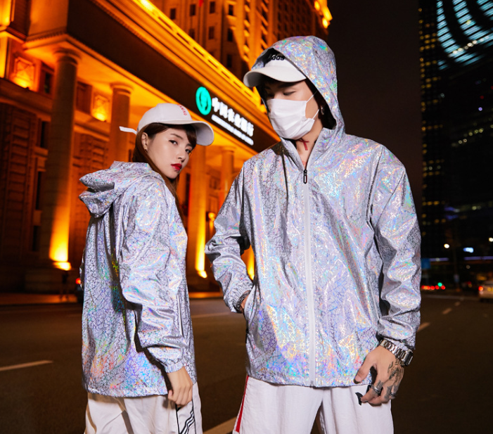 Men and women fluorescent tide brand coat couple set(free shipping)