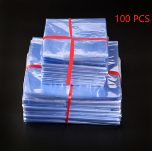 100 Pcs PVC Heat Shrink Film Wrap Storage Bag