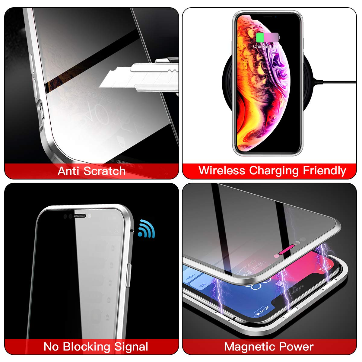 360 degree anti-peeping magnetic phone case,Tempered Glass Phone case for iPhone 11