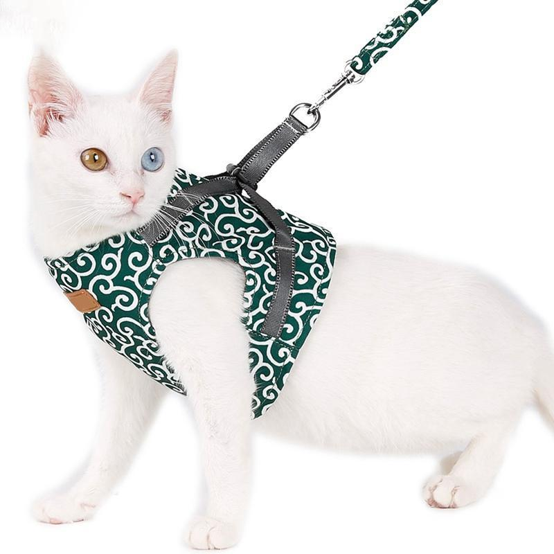 💘BUY 2 FREE  SHIPPING💘Cat Vest Harness and Leash Set to Outdoor Walking
