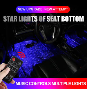12 LED Car Foot Light Ambient Lamp