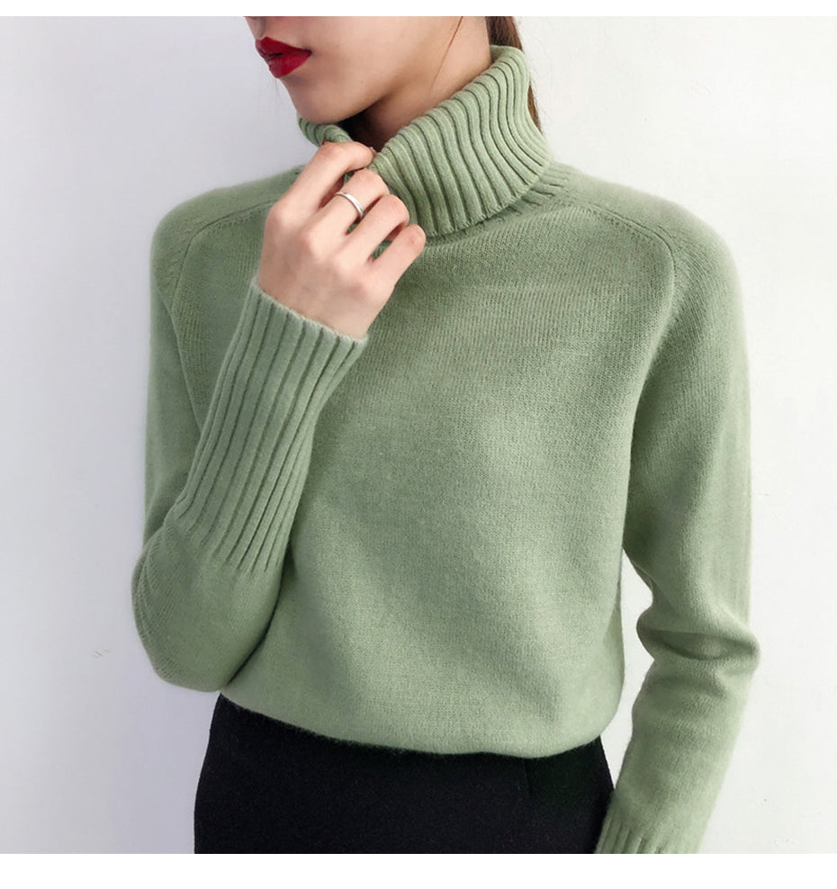 Autumn and winter plush knit ladies sweater