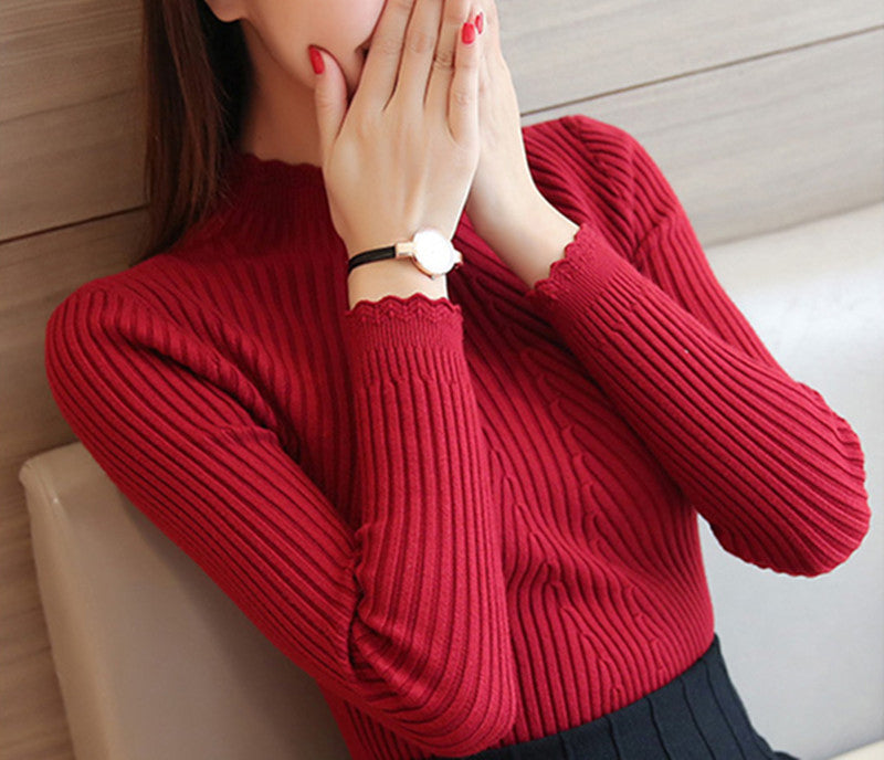 【Last day to get 50% off】High neck solid color warm sweater