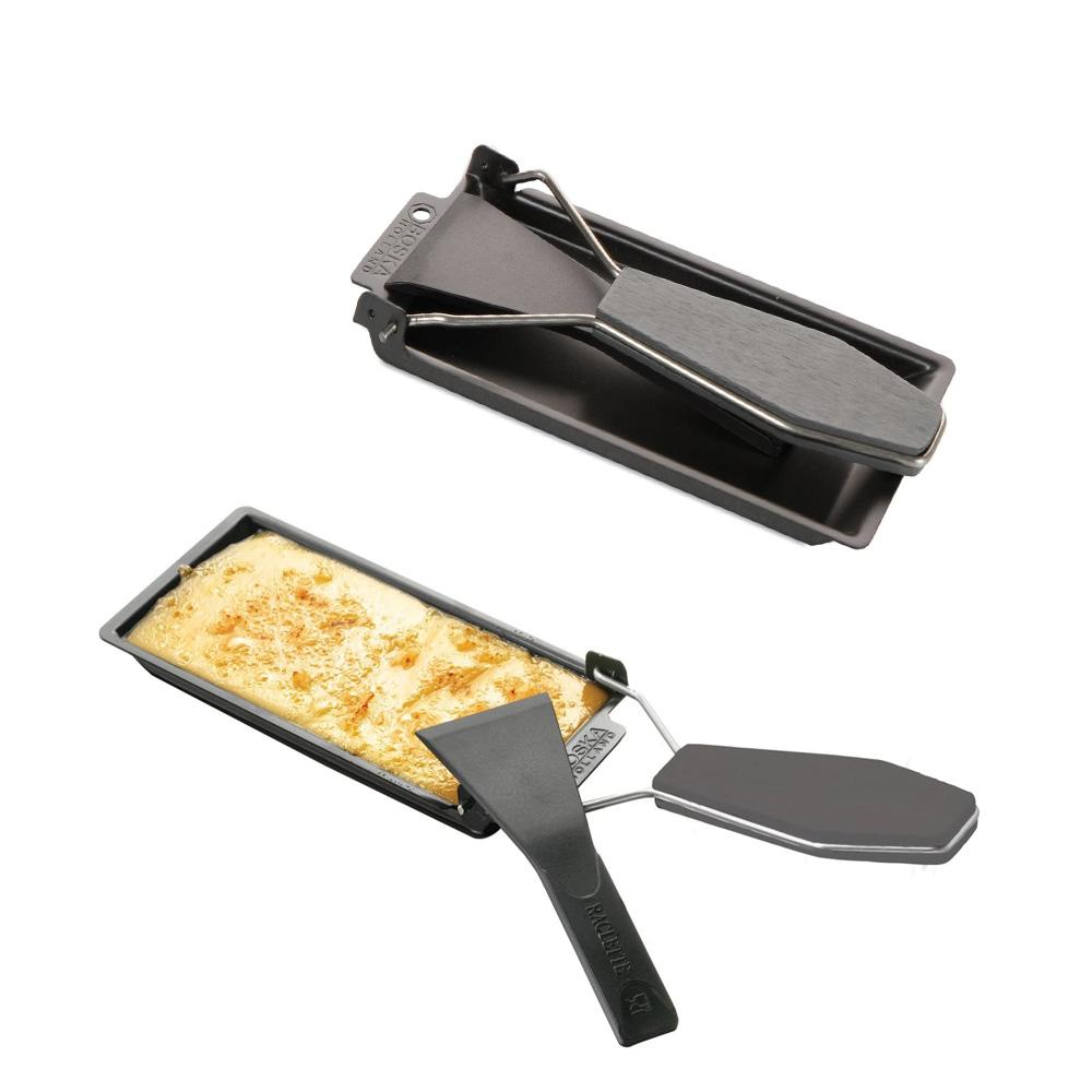 (🔥BUY 2 SETS SAVE $8.99)Non-Stick Black Iron Cheese Raclette Grill Plate