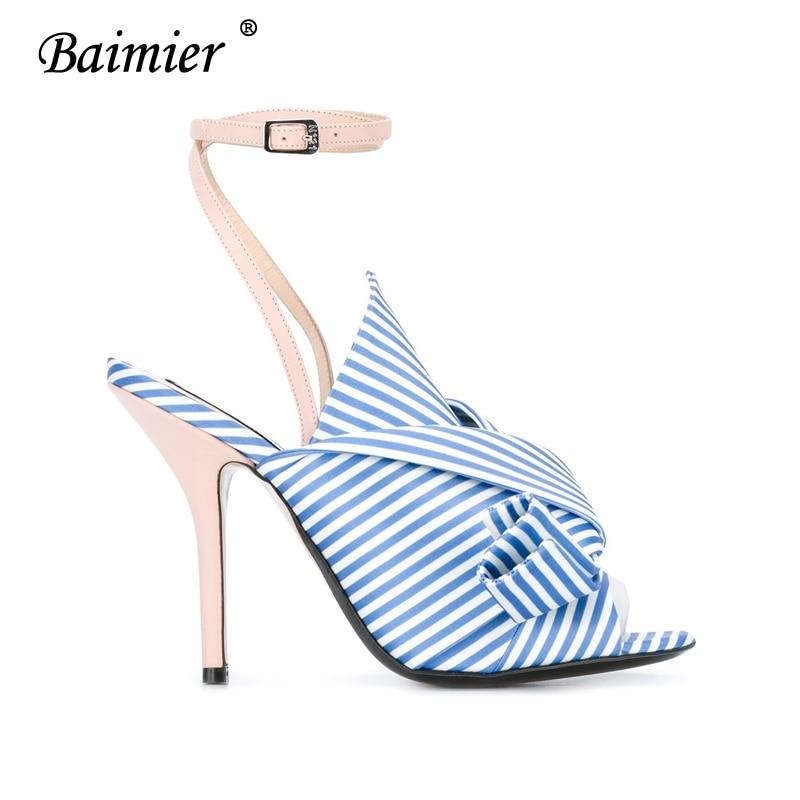 1f8ea272ba1 ... Women Shoes - 2019 Sexy Ankle Wrap Women High Heels Shoes blue 4.5