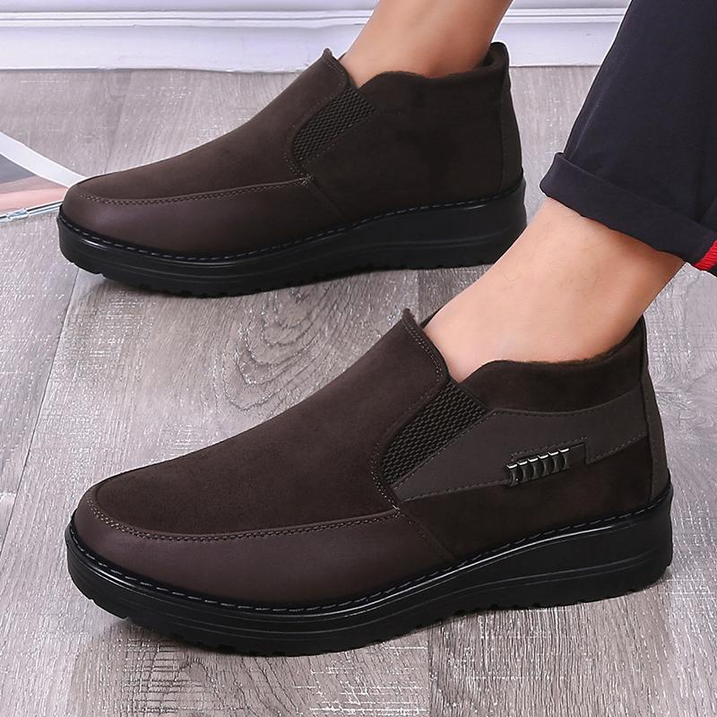 306f32618aff3 Men's Shoes - 2019 Men's Casual Comfortable Flat Slip On Leather Warm –  Nile Kick