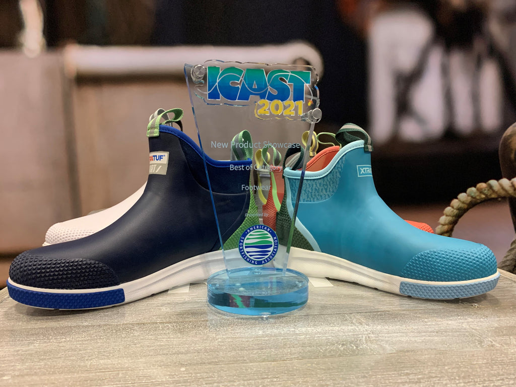XTRATUF wins the Footwear category with the Ankle Deck Boot Sport.