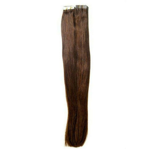 Chocolate Brown Tape-In Hair Extensions