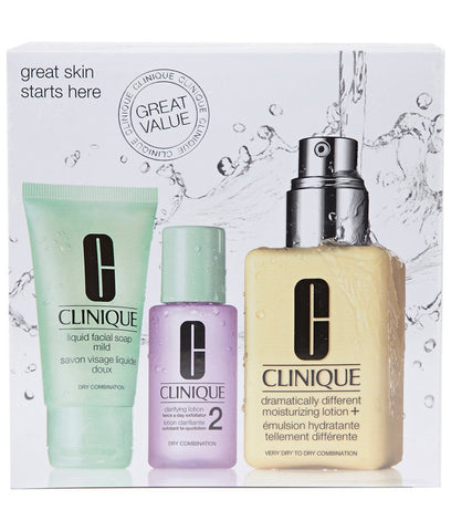 Clinique Face Care Dry Combination Moisturizing Lotion Soap Set