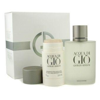 GIORGIO ARMANI ACQUA DI GIO EDT 3.4 FL OZ / 100 ML + SPRAY DEODORANT STICK 2PCS SET