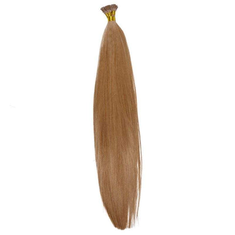 Medium Brown I-Tip Hair Extensions