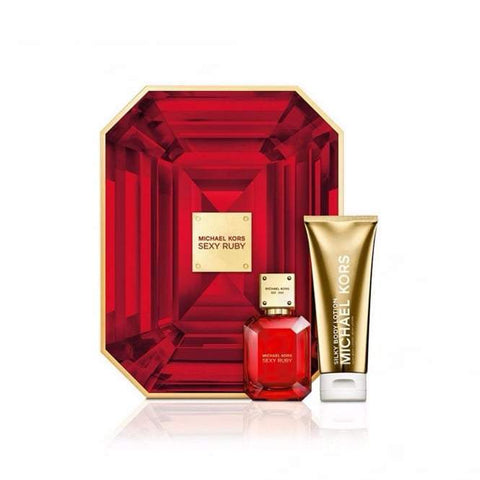 Micheal Kors Sexy Ruby Eau De Parfum & Body Lotion Gift Set