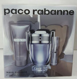 Paco Rabanne Invictus EDT Travel Set 3 Piece Men Gift Set