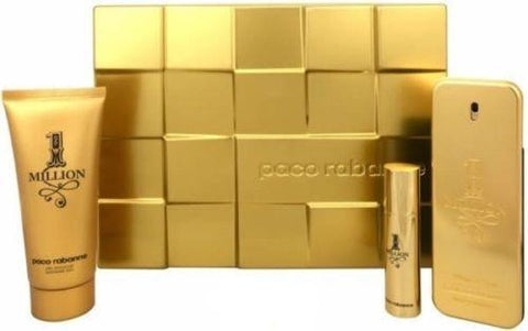 PACO RABANNE ONE MILLION EDT 100ML+ TRAVEL SPRAY 10ML + SHOWER GEL 100ML NEW SET