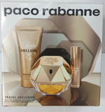 PACO RABANNE LADY MILLION EAU DE PARFUM 80ML + EDP 10ML + BODY LOTION 75ML- WOMEN