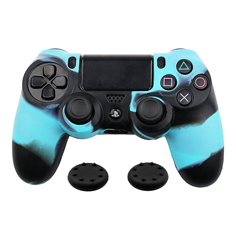 Blue Camouflage Case - Playstation 4 Controller