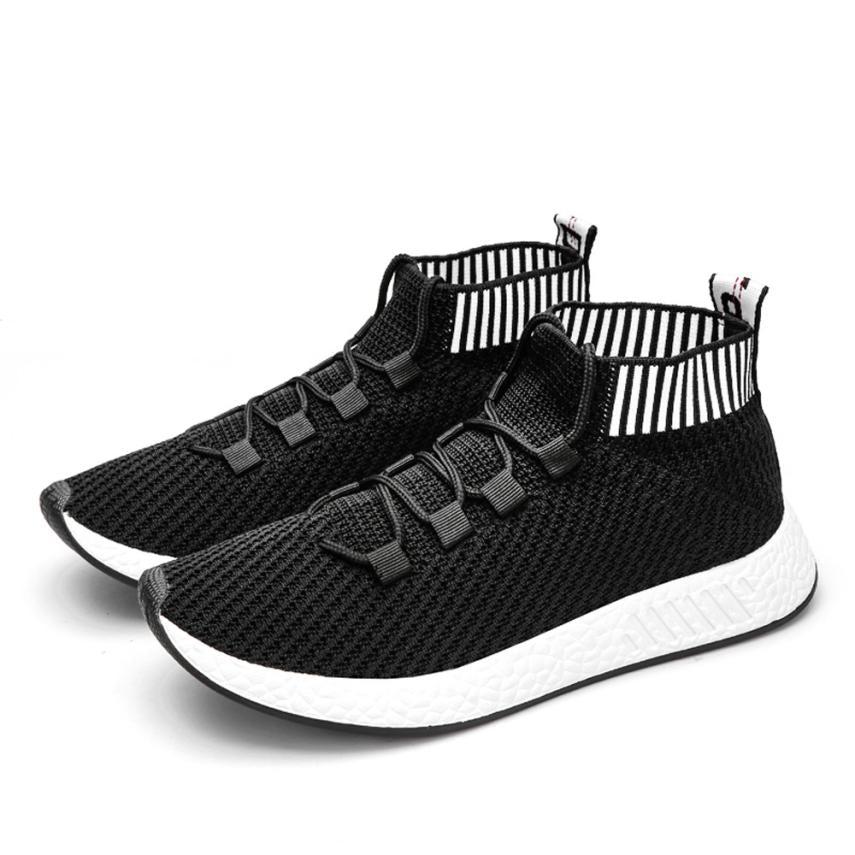 Men Running Shoes Wearable Fly Knitting High Quality
