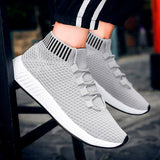 Sports Running Shoes Men Running Shoes Wearable Fly Knitting High Quality Running Shoes For Men Flat Sneaker 0724