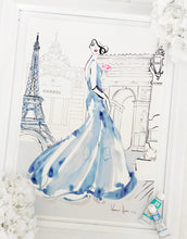 "Load image into Gallery viewer, ""Arc de Triomphe"" in Wedgwood Blue by Kerrie Hess"