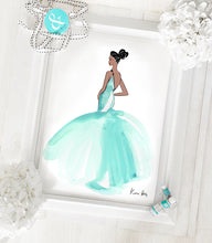 Load image into Gallery viewer, 'Aqua Tulle' Art Print by Kerrie Hess
