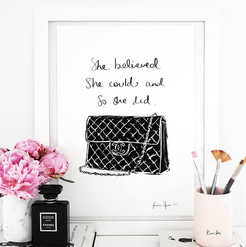 'She believed she could' Art Print by Kerrie Hess