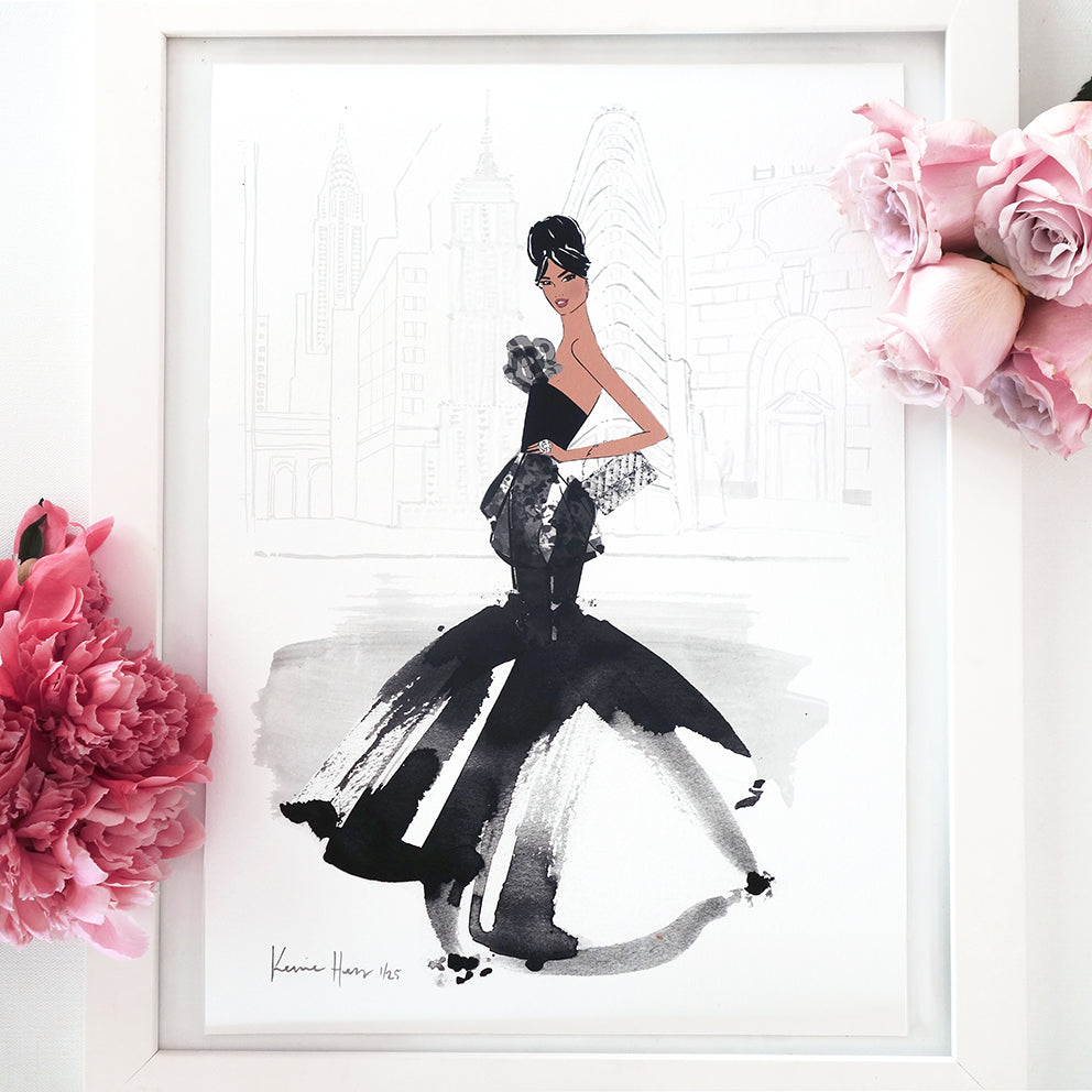 'Belle New York' Art Print by Kerrie Hess