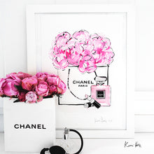 Load image into Gallery viewer, Chanel Peonies Art Print by Kerrie Hess