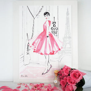 Audrey in Paris A2 by Kerrie Hess