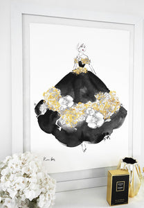 Couture Gold by Kerrie Hess : Hand Embellished in Gold paint and Gold leaf