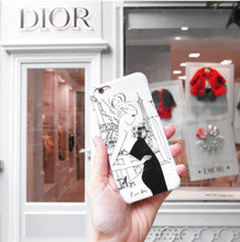 Load image into Gallery viewer, Cafe de Flore Phone Case by Kerrie Hess
