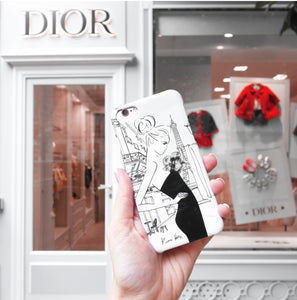 Cafe de Flore Phone Case by Kerrie Hess