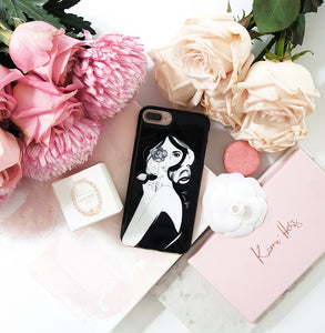 Rosette Noir Phone Case by Kerrie Hess