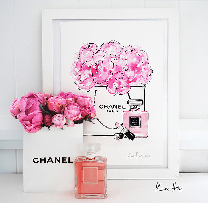 Chanel Peonies Art Print by Kerrie Hess