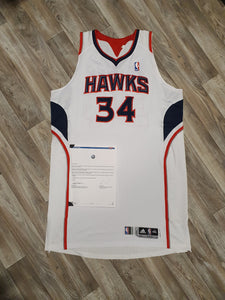 Jason Collins Game Worn Atlanta Hawks Jersey Size 4XL