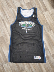 Minnesota Timberwolves Reversible Practice Used Jersey Size