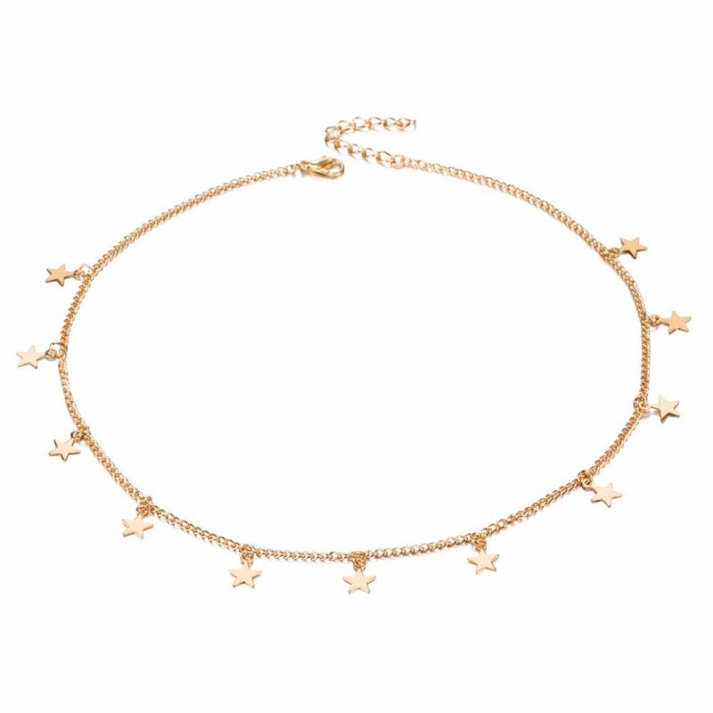 The Shooting Star Necklace in Gold