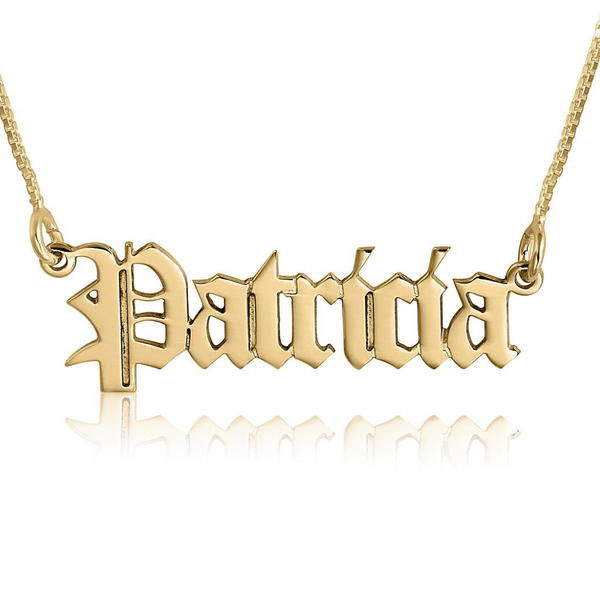 The Old English Gold Name Necklace