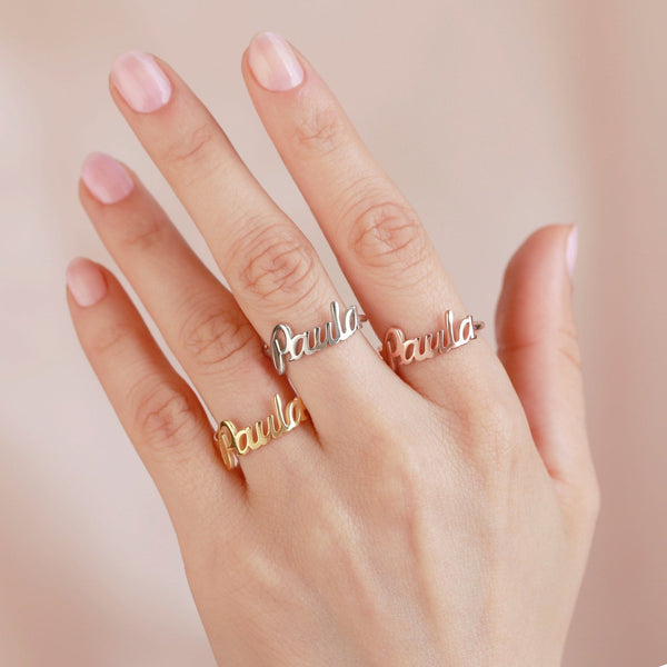 The Carrie Name Ring